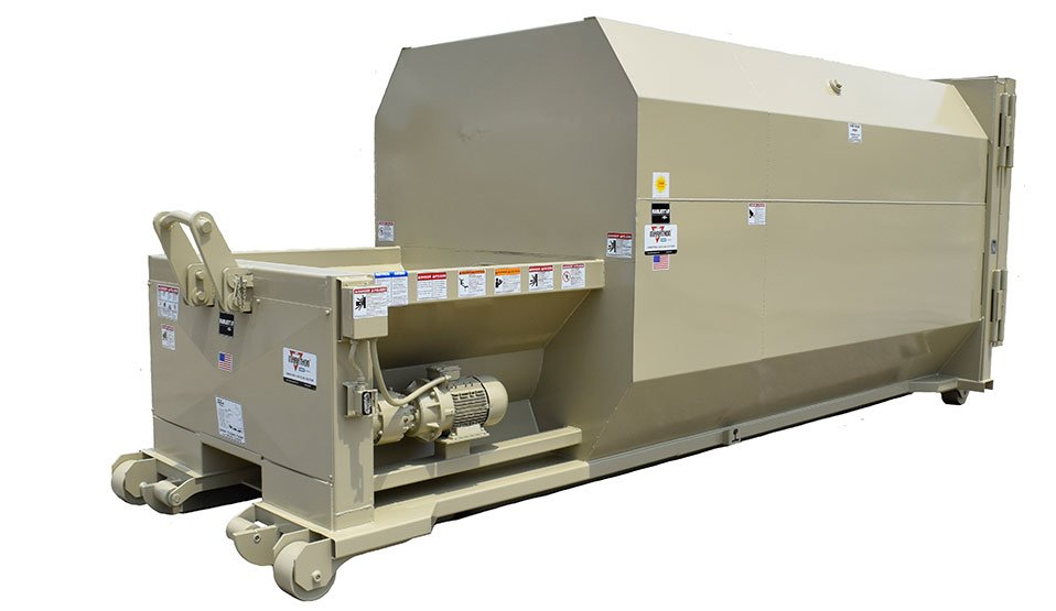 Self-contained auger compactors